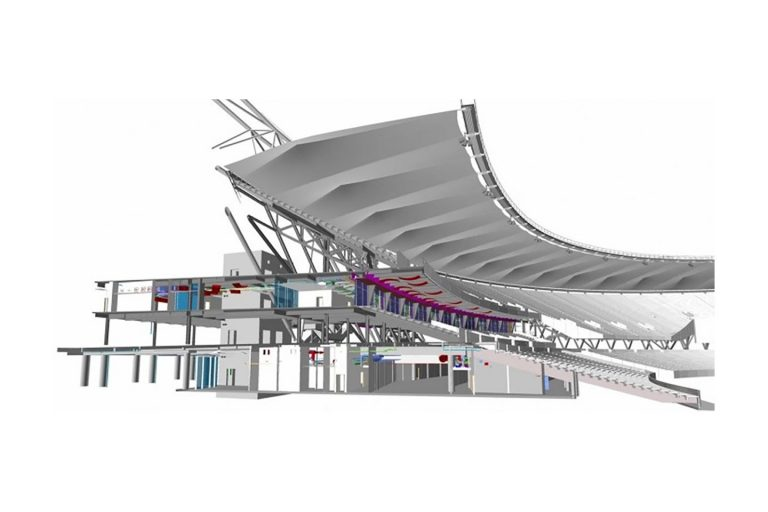 Figure 1: Design Authoring and Coordination, 2012 Olympic Stadium, London (Source: Fulcro Engineering Services)